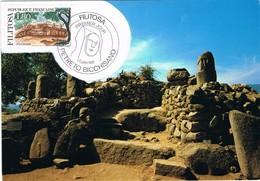 30332. Tarjeta Maxima PETRETO BICCHISANO (Corse) France 1986. Prehistorique Megalithic FILITOSA - Cartas Máxima