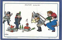 CPA Bertiglia Illustrateur Italien Italie Italia Guerre Anti Germany Kaiser Russie Non Circulé Marianne Reims Liège - Bertiglia, A.