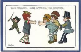 CPA Bertiglia Illustrateur Italien Italie Italia Guerre Anti Germany Kaiser Russie Non Circulé - Bertiglia, A.