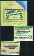 """Y85 DPRK (NORTH KOREA) 1979 1816-1816 + BL.55 Airships. LZ127 """"GRAPH TSEPPILIN"""" - Airships"""