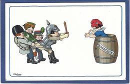 CPA Bertiglia Illustrateur Italien Italie Italia Guerre Anti Germany Kaiser Russie Non Circulé Marianne - Bertiglia, A.