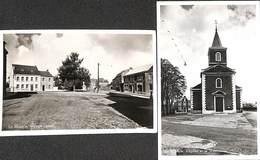 La Minerie - Lot 2 Cartes (Village Centre, L'Eglise) Photo Véritable Safima 1957 - Thimister-Clermont
