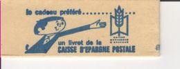 """FRANCE -  CARNET 1536-C 1  Marianne De Cheffer """"CAISSE D'EPARGNE POSTALE"""" - Fermé - Usage Courant"""