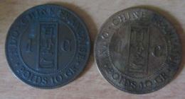 France / Indochine - 2 Monnaies De 1 Centime 1888 A Et 1892 A - TTB - Colonies