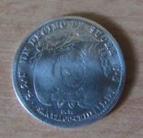 Equateur - Monnaie Un Decimo De Sucre 1889 (Santiago De Chile) En Argent - Equateur