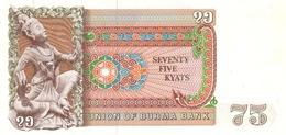 Burma P.65  76 Kyats 1985 Unc - Myanmar