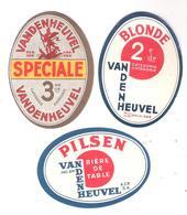 3 étiquettes Biére Vandenheuvel - Bière