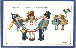 CPA Bertiglia Illustrateur Italien Italie Italia Guerre Anti Germany Kaiser Non Circulé - Bertiglia, A.
