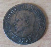 France - Monnaie 2 Centimes Napoléon III 1857 K - TB+ / TTB - Peu Courante - France
