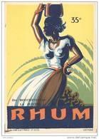Etiquette De Rhum  35 °  -  Ets Bouchevreau  à La Flèche  (72) - Rhum
