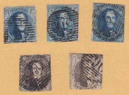 Belgie   Lot             2/04 - 1849-1850 Médaillons (3/5)
