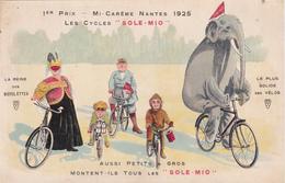 """CPA Publicitaire Publicité Cycles """"SOLE MIO""""  (44) NANTES 1925 Vélo Bicyclette Cycling Radsport Eléphant Singe - Publicité"""