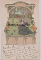 ILLUSTRATEUR---Elisabeth SONREL--Le Printemps---art Nouveau--Série Des 4 Saisons--Précurseur - Illustrateurs & Photographes