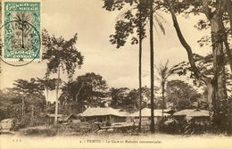 CONGO BELGE -- TEMVO -- La Gare Et Maisons Commerciales - Congo - Kinshasa (ex Zaire)