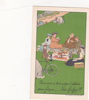 """CPA Publicitaire Publicité (92) COURBEVOIE Cycles """"GRIFFON""""  Vélo Bicyclette Cycling Radsport Illustrateur - Publicité"""