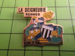 1418b Pin's Pins / Belle Qualité Et TB état !!!! : THEME MARQUES / PEINTURES LA SEIGNEURIE RENNES ON Y VA ! - Trademarks
