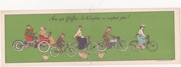 """CPA Double 9 X 18 Publicitaire Publicité (92) COURBEVOIE Cycles """"GRIFFON""""  Vélo Bicyclette Cycling Radsport Illustrateur - Publicité"""