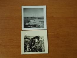 WW2 GUERRE 39 45 BRETAGNE GUILVINEC BARAQUEMENT DES SOLDATS ALLEMANDS ET DIGUE AU PORT DE PECHE 1941 - Guilvinec