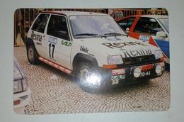 Calendrier De Poche. Renault 5  GT Turbo.Portugal 1987 - Calendars