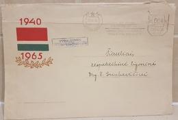 Lithuania Government 1965 Sent From Vilnius To Siauliai  Very Rare! Meter Franking Flag - Lituania