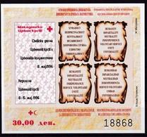 1995, Mazedonien, ZZ  84/88 Block 19 B, Woche Des Roten Kreuzes. MNH ** - Mazedonien