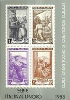 """1759 """" IPZS FOLDER 19 CARTOLINE COMMEMORATIVE >SERIE ITALIA AL LAVORO< - 1988 """" CART. POST. OR. NON SPED. - Francobolli (rappresentazioni)"""