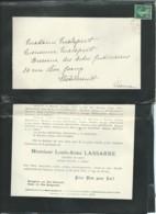 Chézeau ( Creuse ) )- F.P. Décès De M Louis Aimé Lassarre , Notaire ( Gueret ) Le 23/04/1913 - Fab8009 - Esquela