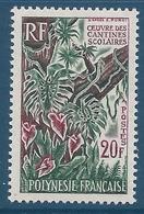 POLYNESIE 1965 - YT N°35 - 20 F. - Oeuvres Des Cantines Scolaires - Neuf** - TTB Etat - Polinesia Francese