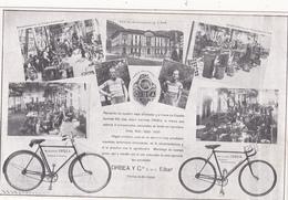 """CPA Publicitaire Publicité CARRATALA à ALICANTE Cycles """"ORBEA"""" Bicyclette Vélo Sport Cyclisme Cycling Radsport - Publicité"""