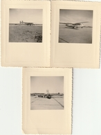Lot De 3 Photos 108 Mm X 78 Mm - Années 50 - Avion - Aviation - Scan R/V - Aviation