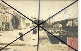 LA ROCHE BERNARD  *** VUE DES QUAIS EN 1904 *** CARTE PHOTO *** - La Roche-Bernard