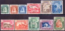 ADEN KATHIRI STATE OF SEIYUN 1942 SG 1-11 Used CV £80 - Aden (1854-1963)