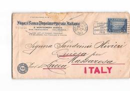 10924 02  FUGAZI BANCA POPOLARE OPERAIA ITALIANA SAN FRANCISCO CALIFORNIA TO MASSAROSA ITALY - Stati Uniti