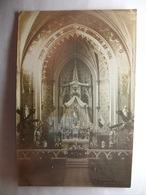 Carte Postale Bourg (52) Intérieur De L'Egilse ( Petit Format Noir Et Blanc Correspondance 1915 ) - France
