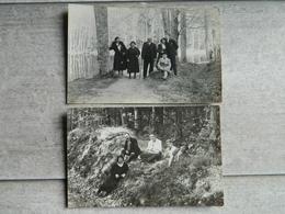 LOT DE 2 CARTES PHOTO BELLEME   FAMILLE - France