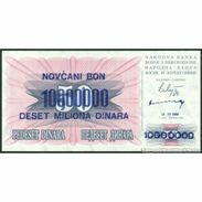 TWN - BOSNIA-HERZEGOVINA 36 - 10000000 10.000.000 Dinara 10.11.1993 Various Prefixes UNC - Bosnie-Herzegovine
