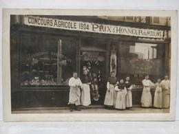 Bois Colombes. Charcuterie Sauvage, Rue Des Bourguignons, 79. Concours Agricole 1904. Animée. - France