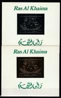 ESPACE - RAS AL KHAIMA -2 BLOCS ARGENT+ OR ** (1971) SOYOUZ - Asia