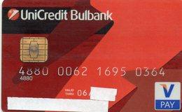 BULGARIE - CREDIT CARD - V PAY - UNICREDIT  BULBANK  [#.B.002] - Geldkarten (Ablauf Min. 10 Jahre)