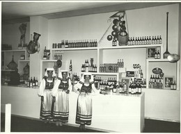 """1760 """" STAND PRODOTTI ITALIANI (GANCIA-CHIANTI RICASOLI E ALTRI) ALLA MOSTRA DI VIENNA DEL 1936 """" FOTO ORIGINALE - Foto Dedicate"""