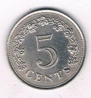 5 CENTS  1972 MALTA /7359/ - Malta