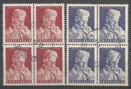 YU 1953-712-3 NIKOLA TESLA, YUGOSLAVIA, 4 X 2v, Used - 1945-1992 Sozialistische Föderative Republik Jugoslawien