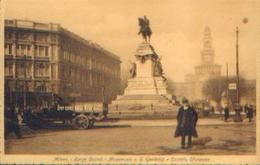 ITALIE – MILANO « Largo Cairoli – Monumento A G. Garibaldi E Castello Sforzesco» - Ed. Artistica Pirelli - Other