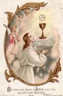 IMAGE PIEUSE - Première Communion Etiennette BERTHOMIEU Le 09 Octobre 1894 - Imágenes Religiosas