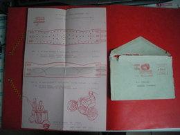 Enveloppe Plus Pblicité MOTO CEINTURE 1953 FRANCE ELEGANCE Fabrique De Ceintures Rue Des Jumeaux TOULOUSE - Unclassified