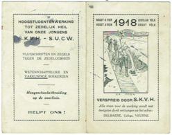 Calendrier. Veurne. College Delbaere. S.K.V.H. - S.U.C.W.  1918. - Calendars