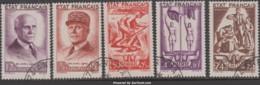 Série Pétain Oblitérée (Y&T N° 576 à 580 , Cote  92.50€) - France