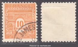 10Fr Arc De Triomphe Oblitéré TB  (Y&T N° 629, Cote 27.50€) - Gebraucht