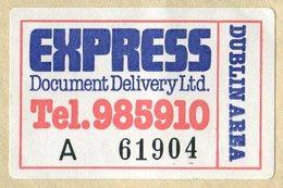 Ireland EXPRESS Document Delivery Ltd Dublin Area Courier Mail Dispatch Cover Private Local Post Privatpost Poste Privée - Altri