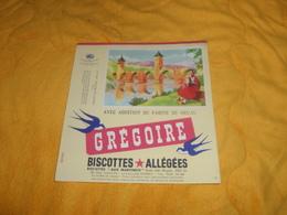 BUVARD ANCIEN DATE ?. / GREGOIRE BISCOTTES ALLEGEES. / LE PONT VALENTRE DE CAHORS. - Buvards, Protège-cahiers Illustrés